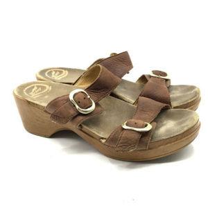 Dansko Sophie Slides Leather Sandals 40 US 9.5 10